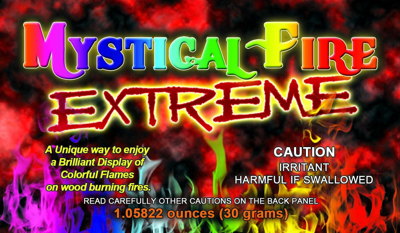 Mystical Fire EXTREME Adds 20% More Colorful Flames to a Campfire - 12 Packs