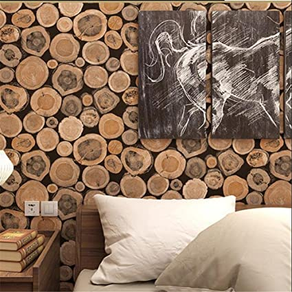 Amazon Com Dhxy Wallpaper Pvc Retro 3d Imitation Wood Texture