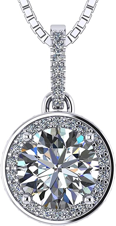 Sterling Silver Large Signity CZ Circle of Life Womens Pendant Set