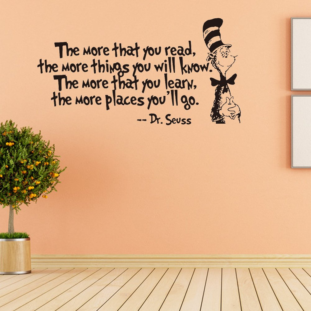 Amazon.com: Removable Quotes and Saying Dr. Seuss the More You Read ...