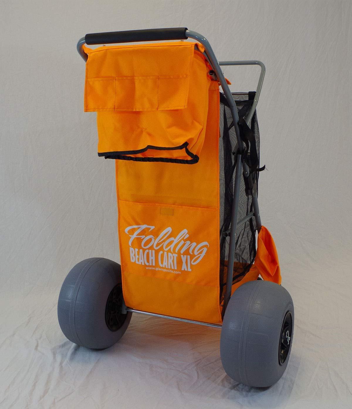Glampin Life Carro de playa plegable XL – Carro de playa plegable ...