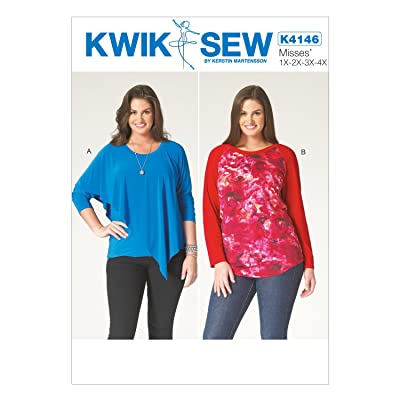 Free Shipping Kwik Sew Patterns K4146osz K4146 Womens Tops All