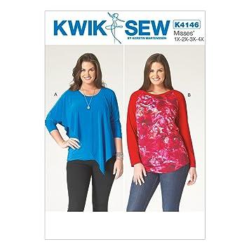 Kwik Sew Mustern k4146 OSZ 1 x/2 x/3 x/4 x große Damen-Tops ...