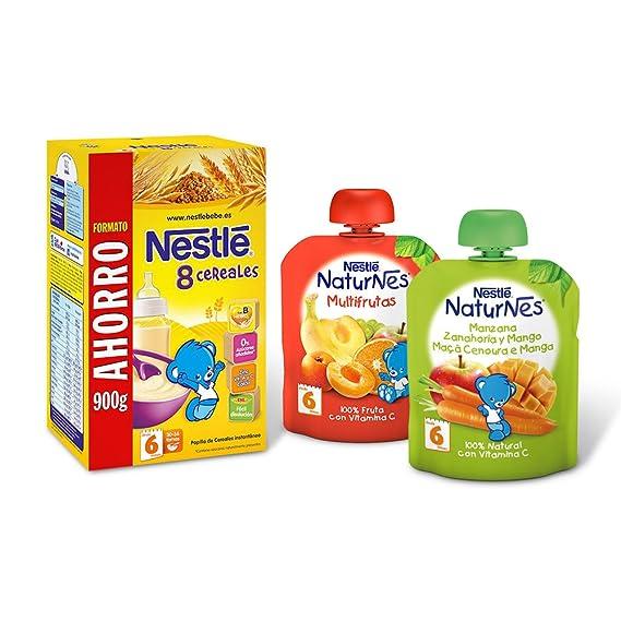 Nestlé Papillas Cereales (900 g) + Nestlé Naturnes Multifrutas (90 g) +