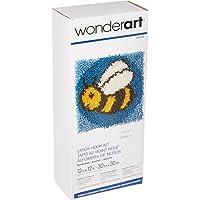 """Spinrite Wonderart Latch Hook Kit, 12"""" by 12"""", Bumblebee"""