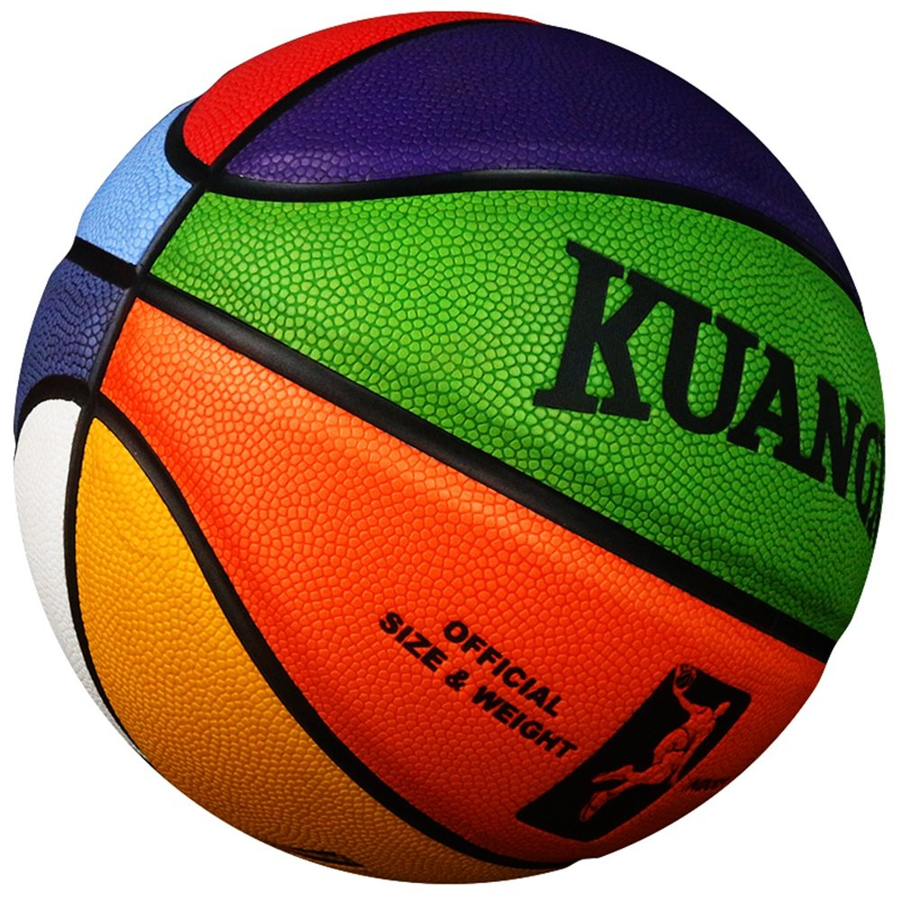 Kuangmi Multicolore? Basketball Taille 7 Taille 6 Taille 5 Taille 4 Taille 3 Cadeau Ideal Les Enfants