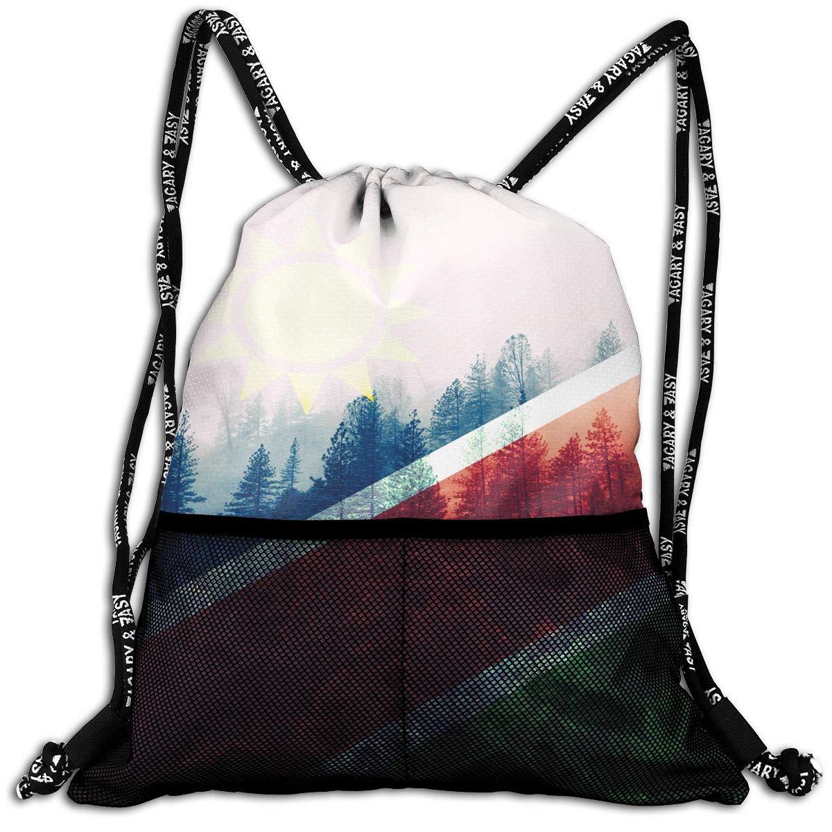 Amazon.com: Namibia bandera con bosque cordón mochila bolsas ...