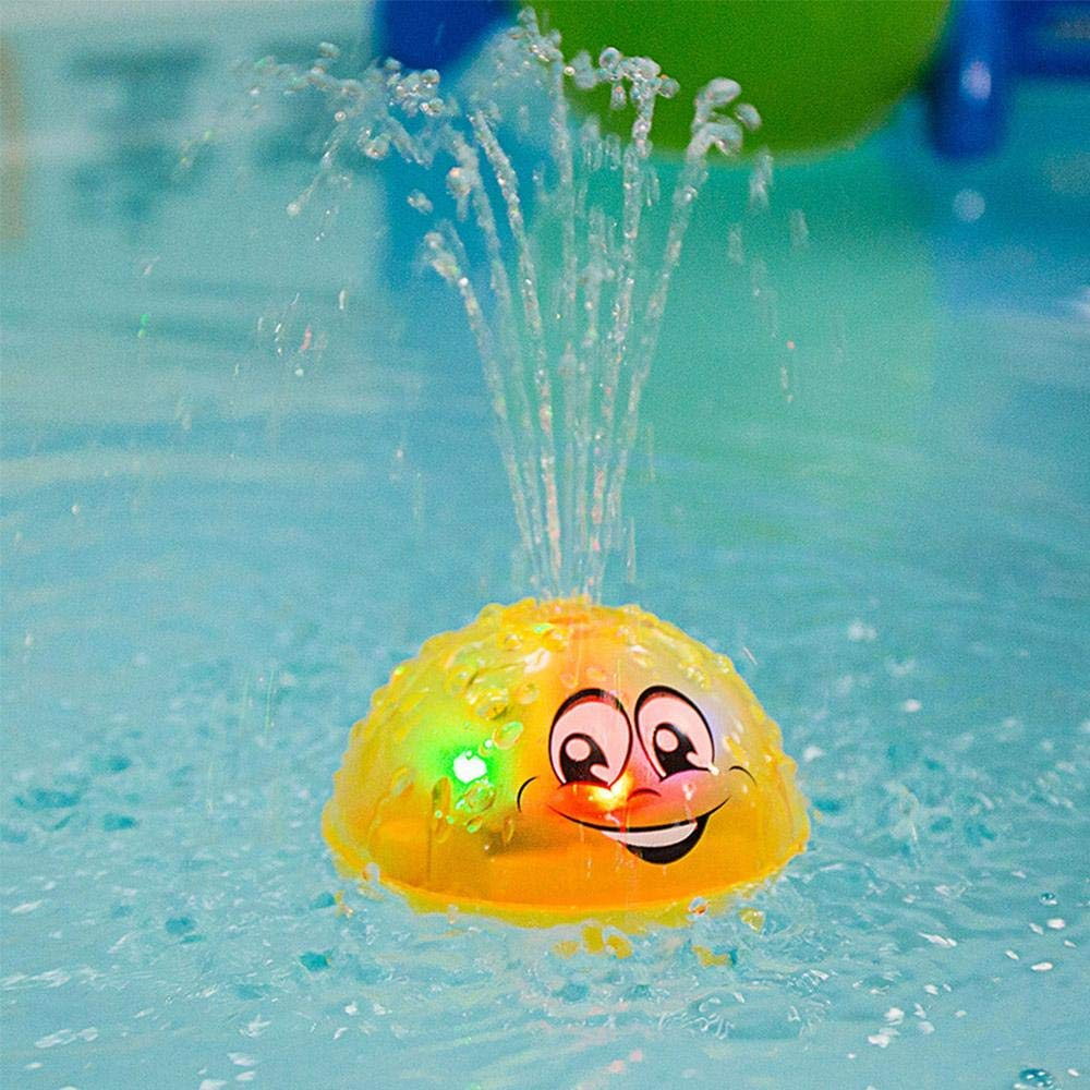 Baby Bathtime Fun Toys,Rotating Spray Water Bath Toy with 2 Music Flashing Lights Can Drifting Bathtub Shower Toys Gift for Toddlers Boys Girls Yellow eujiancai Spray Water Baby Bath Toy