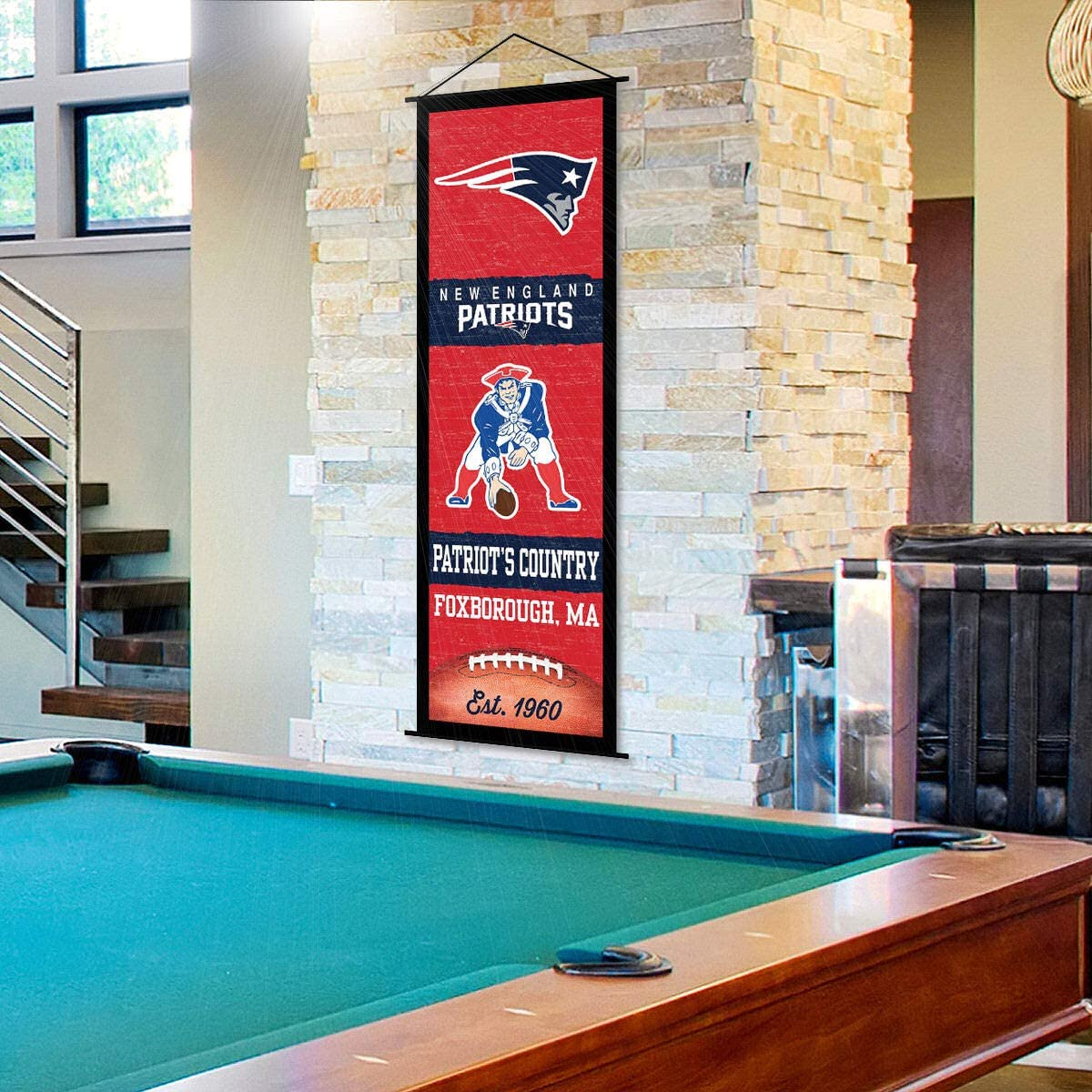 New England Patriots Banner and Scroll Sign