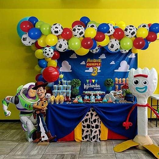 LIZHIQQ 100 Party Pack Toy Story Cumpleaños Hincha El Arco De La ...