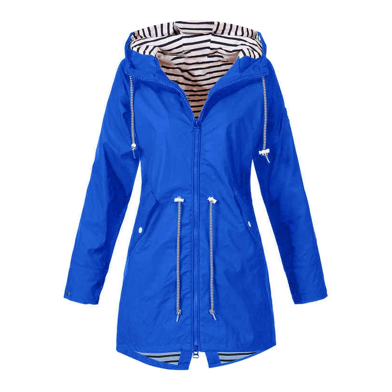 bluee Jacket Women Harajuku Zipper Pockets Long Coat Clothes Bomber Jacket Winter Coat Womens