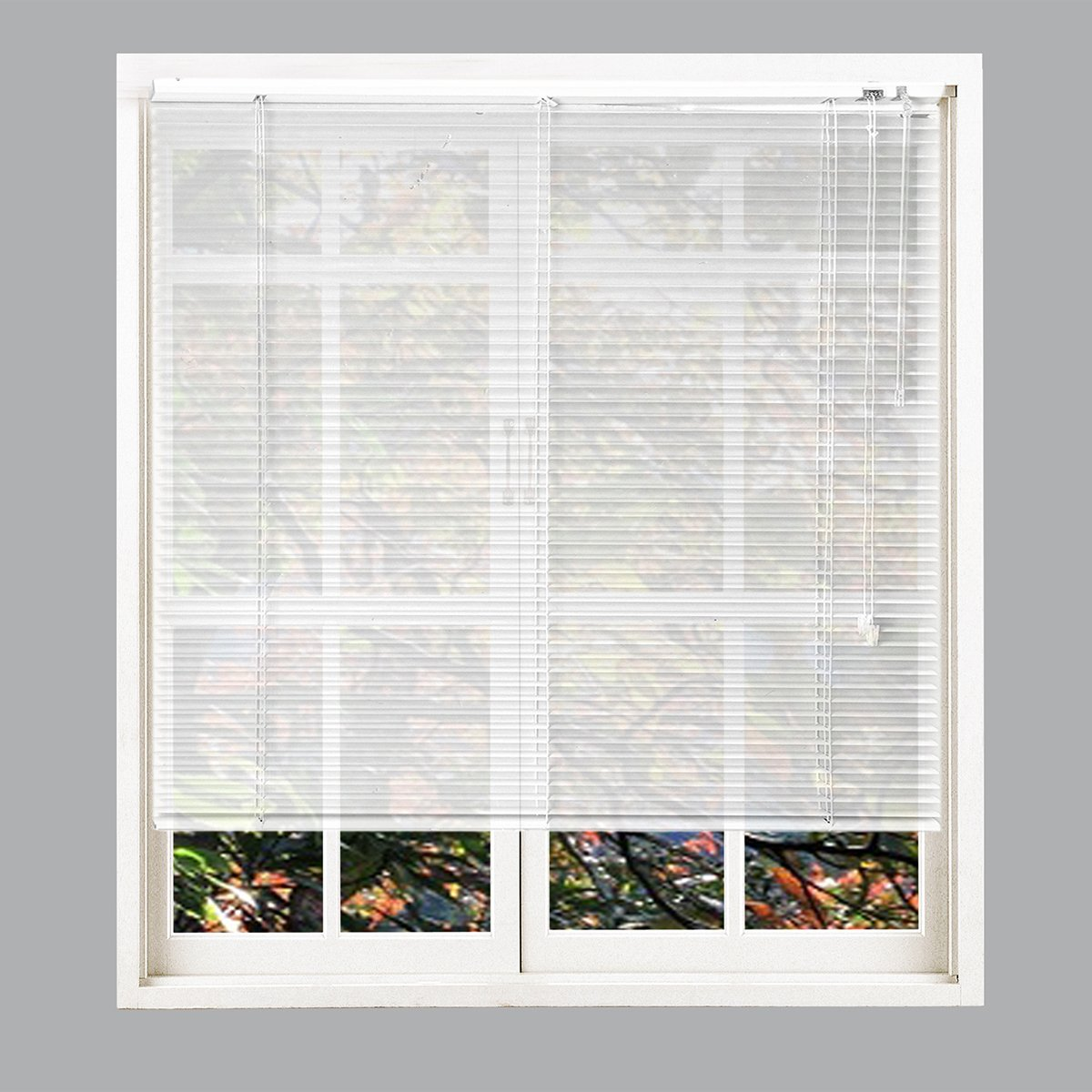 Taiyuhomes Aluminum Horizontal Window Mini Blinds Blackout Roll Up Shades 1 Inch Slats with Easy Inside and Outside Mount,31 1/2x48 Inch,White