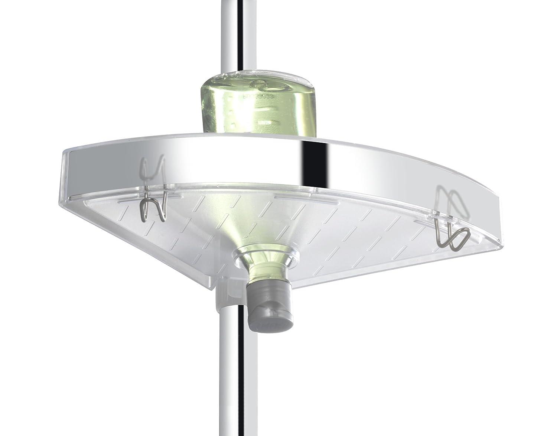 Wenko teleskop duschecke premium aluminium glänzend 20x27.5x260 cm