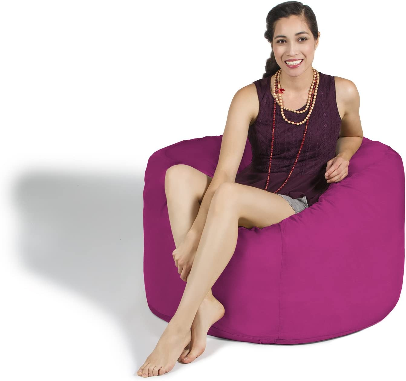 Jaxx Saxx 3 Bean Bag Chair Fuchsia