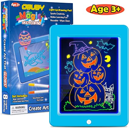 Kids Magic Drawing Pad with Neon Pen Creative Glow Art Writing Board Light Up