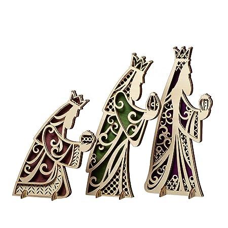 Enesco Flourish Gift Set of 3 Kings Centerpiece, 12.5-Inch