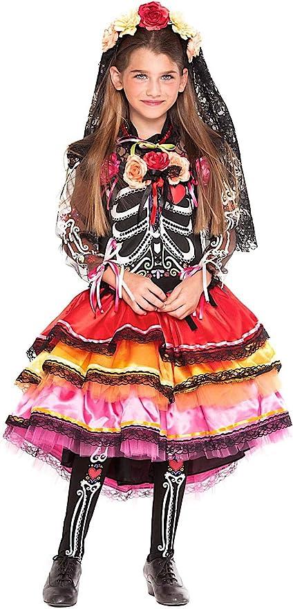VENEZIANO Disfraz FANTASMINA Mexicana BEB Vestido Fiesta de ...