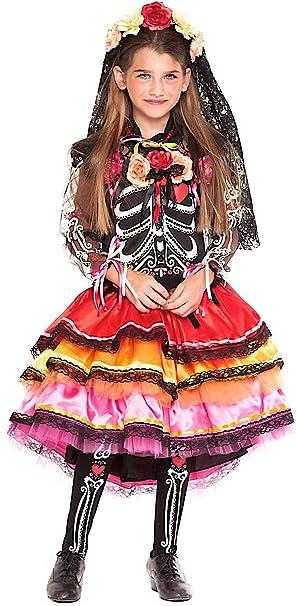 Disfraz Chica Mexicana FANTASMINA Vestido Fiesta de Carnaval ...