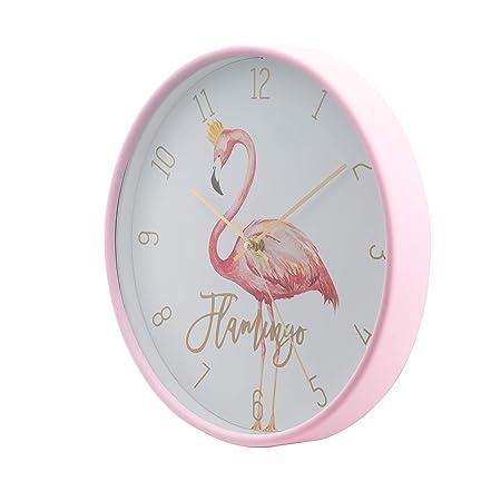 LUUK LIFESTYLE Reloj de Pared de Cuarzo Flamenco, Moderno y Simple con Segunda Mano, Cuarto de niños, Reloj de Cocina, Reloj de Pared de Sala Vintage, ...