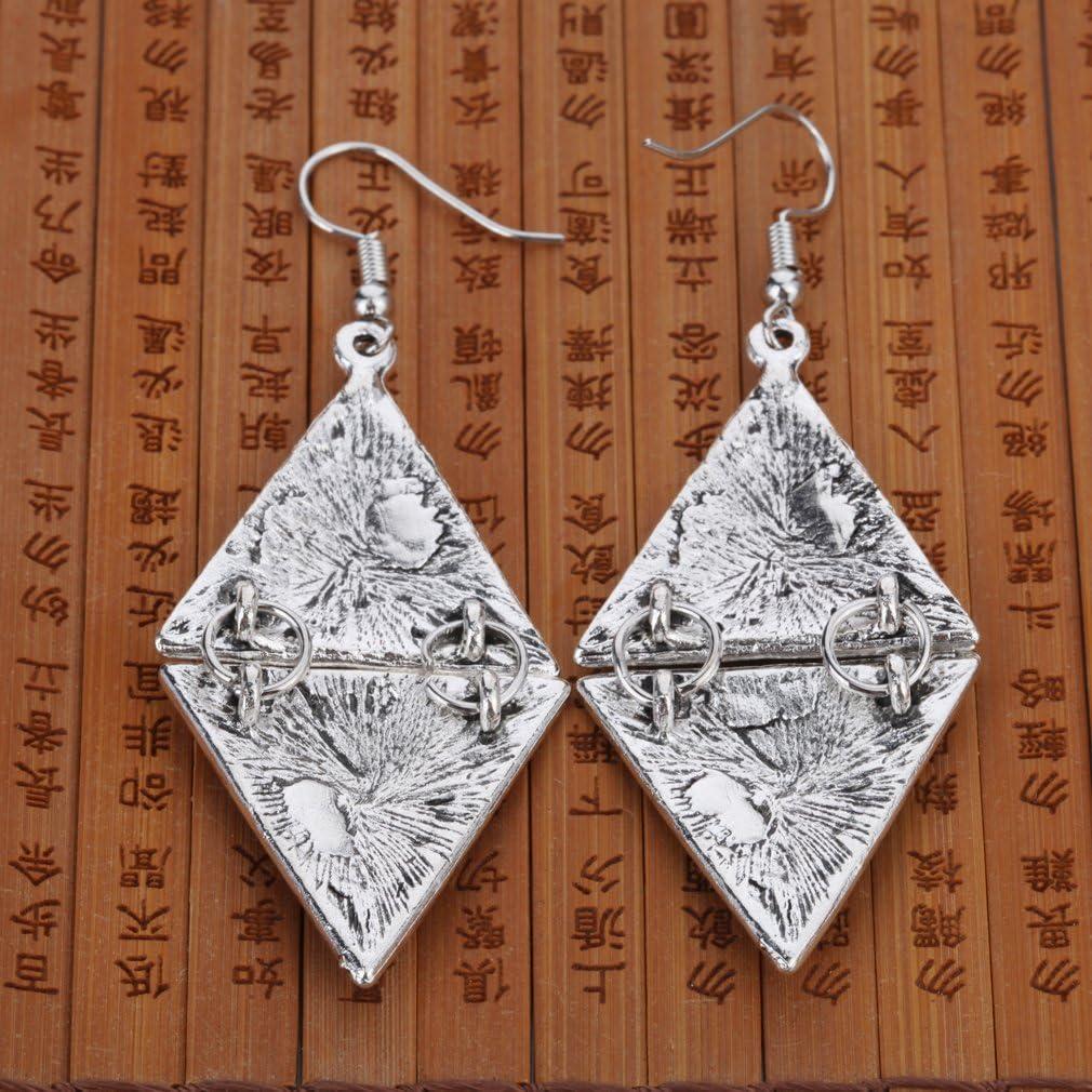 plata YAZILIND Vintage aleaci/¨/®n talla geom/¨/¦trica tri/¨/¢ngulo cuelgan aretes de gancho de las mujeres regalo de las ni?as