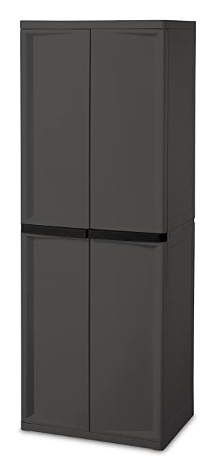Amazon.com: Sterilite 01423V01 4 Shelf Cabinet, Flat Gray Cabinet ...