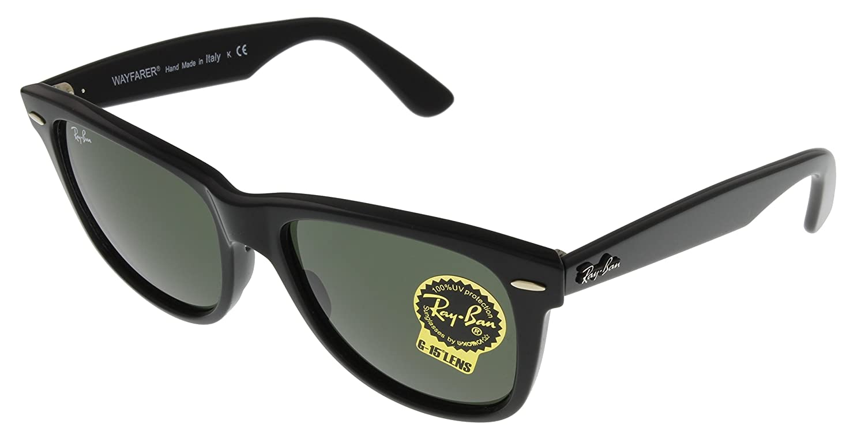 Amazon.com  Ray-Ban Men s Wayfarer Sunglasses, Black, One Size  Shoes 2b53fe9bc6