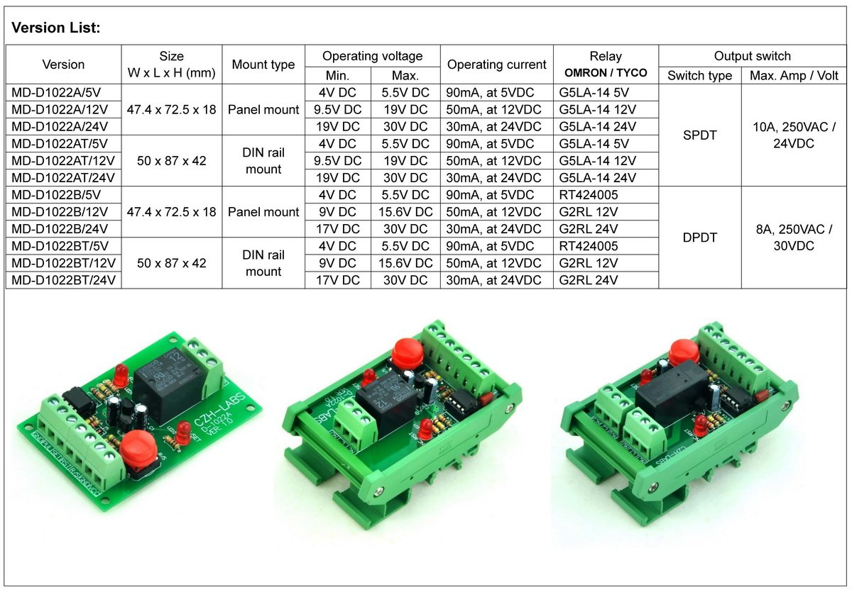 Electronics Salon Panel Mount Momentary Switch Pulse Signal Control Dpdt Latching Relay 12vdc Module 12v Industrial Scientific