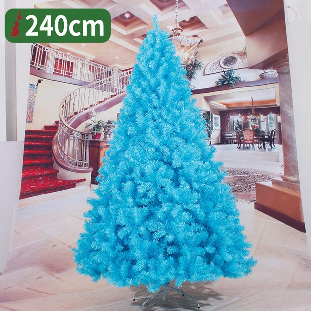 Artificial Fibre Optic Christmas Tree,with Stand Base Branches Pine Christmas,Premium Encrypted Tree,for Xmas Tree Seasonal Home Christmas Party Decoration,Blue by YAR-XMASTREES