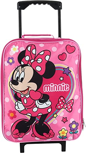 Junior Minnie Mouse 15 Collapsible Wheeled Pilot Case – Rolling Luggage