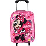 """Junior Minnie Mouse 15"""" Collapsible Wheeled Pilot Case - Rolling Luggage"""