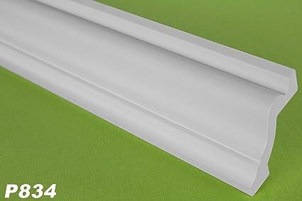 P834 - Tira de perfil de poliuretano (10 m, 66 x 58 mm)