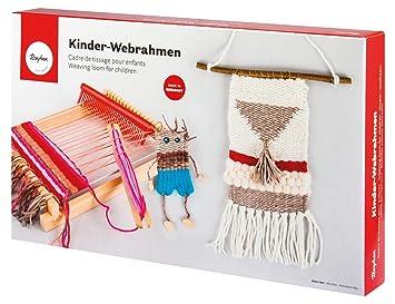 Hervorragend Rayher 7202200 Holz Kinder-Webrahmen, 18,5 x 29 cm, Webbreite 16,5 JT57