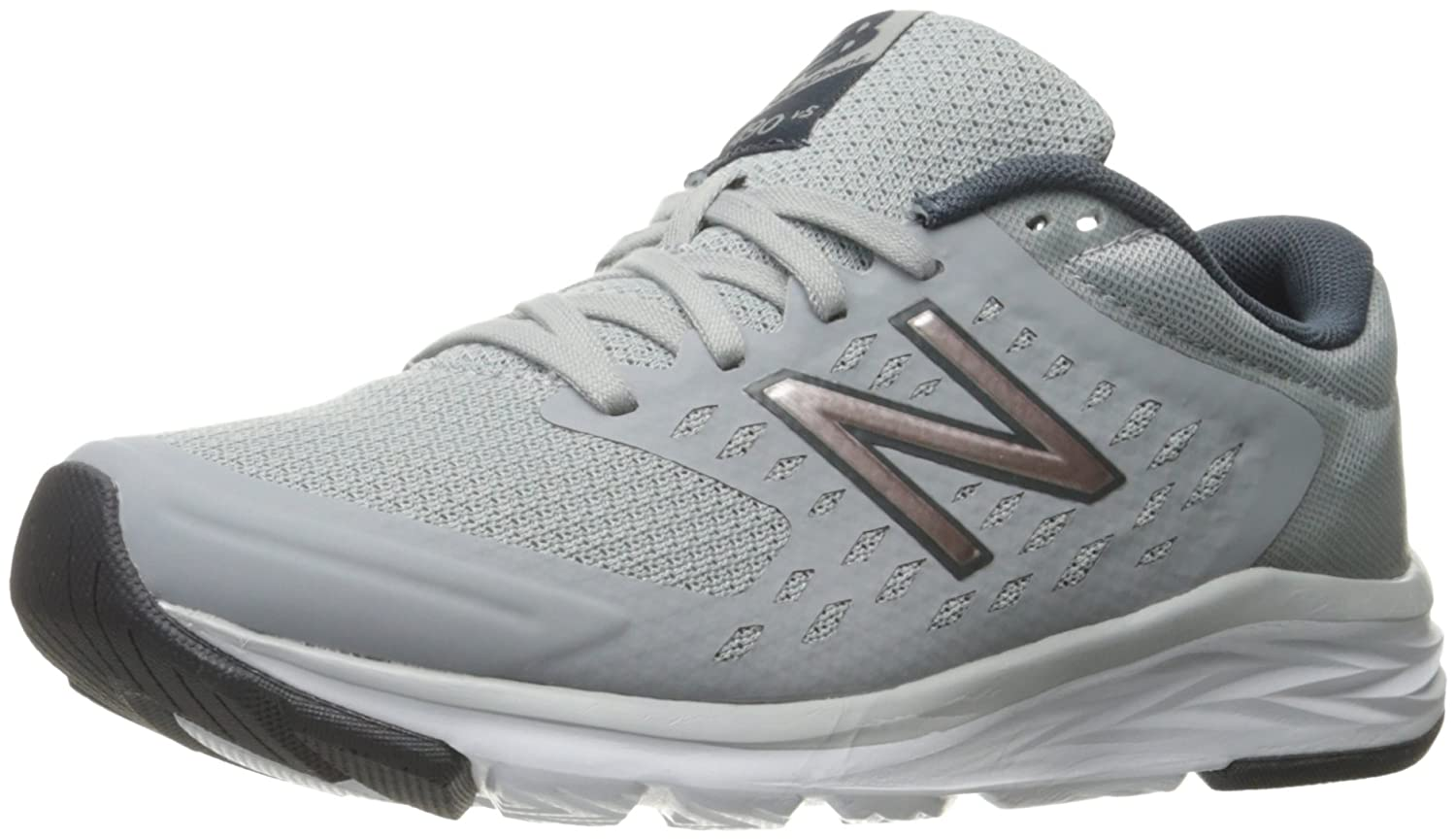 New Balance Women's 490V5 Running Shoe B01N55353D 9.5 B(M) US|Silver Mink/Thunder