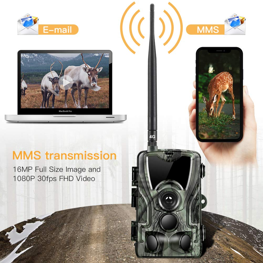 Suntekcam 4G LTE Cellular Trail Game Camera, 16MP 1080P Wildlife Hunting Camera(AT&T/Verizon), Micro SD Card and Card Reader Included, Night Vision IP65 Waterproof Cam,0.3s Scouting Camera by Suntekcam (Image #3)