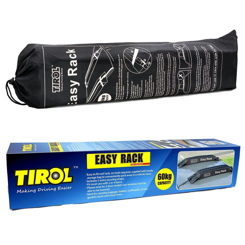 TIROL Universal Auto Soft Car Roof Rack Carrier Luggage Easy Rack 2 Piece