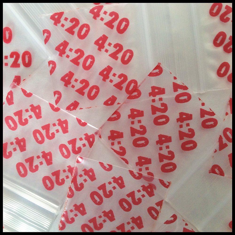 Mini Ziplock Baggies 1515 100 Bags 10 Designs Apple Get Real Collection 1.5 X 1.5
