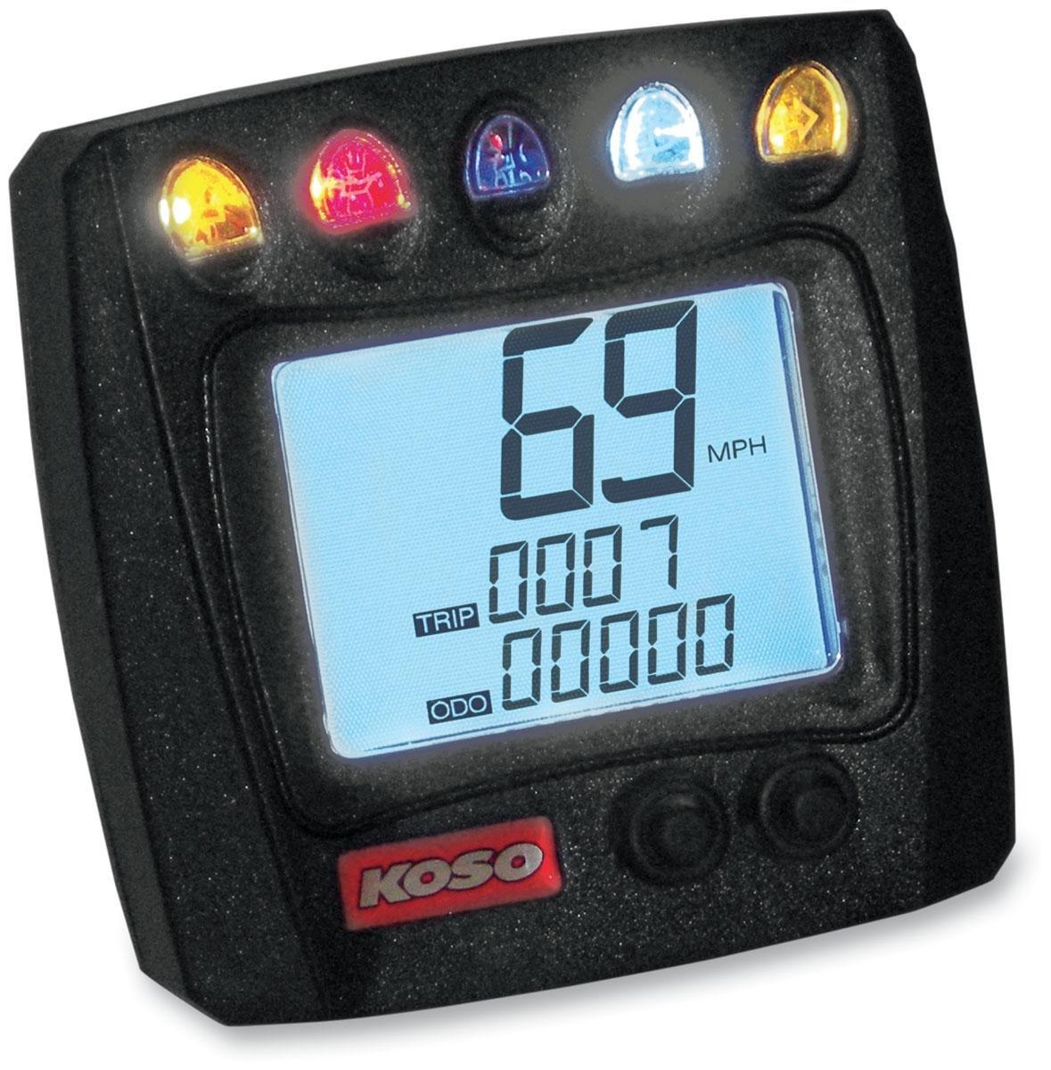Koso Universal Speedometer with Indicator Lights BB007B52