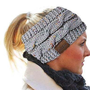 082b1beda3b Fasker Womens CC Style Confetti Winter Cable Knit Headband Head Wrap Ear  Warmer at Amazon Women s Clothing store