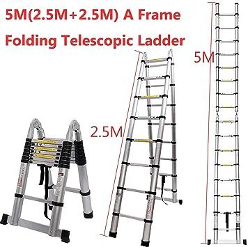 Generic Le Multi-Pur - Escalera Plegable de Aluminio (5 m, telescópica, Extensible y Extensible en Aluminio): Amazon.es: Electrónica