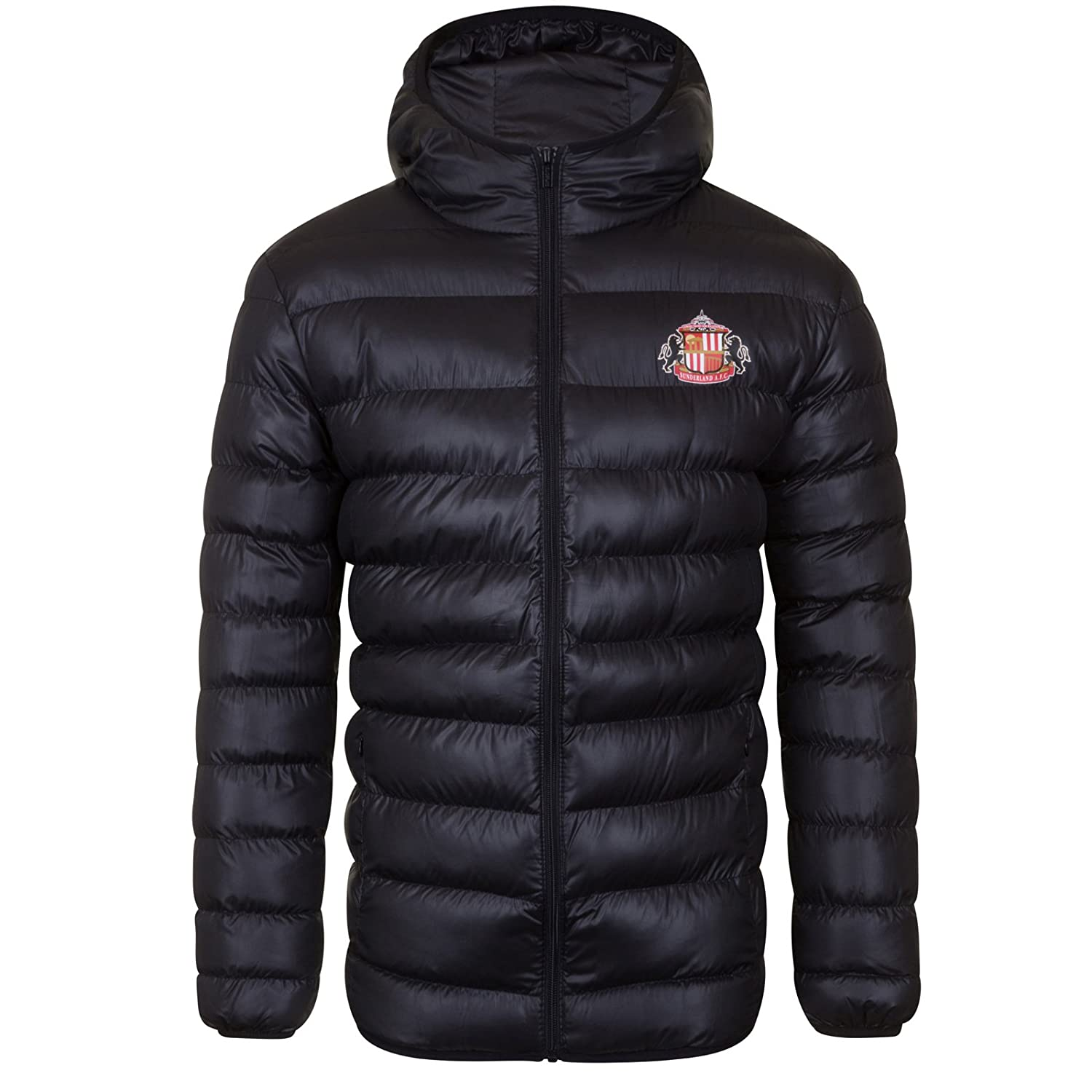 Sunderland AFC Official Football Gift Mens Quilted Hooded Winter Jacket