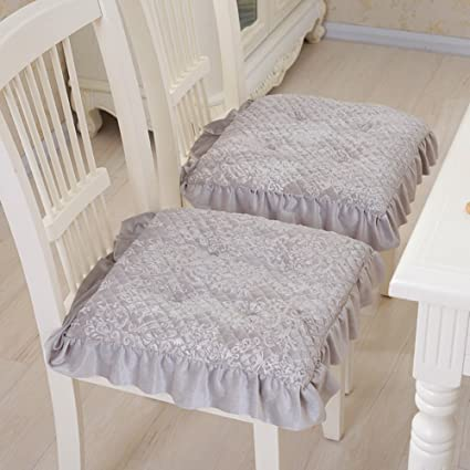 dining chair cushions wicker super soft chair cushion dining pad warmth plush stool cushion set of amazoncom