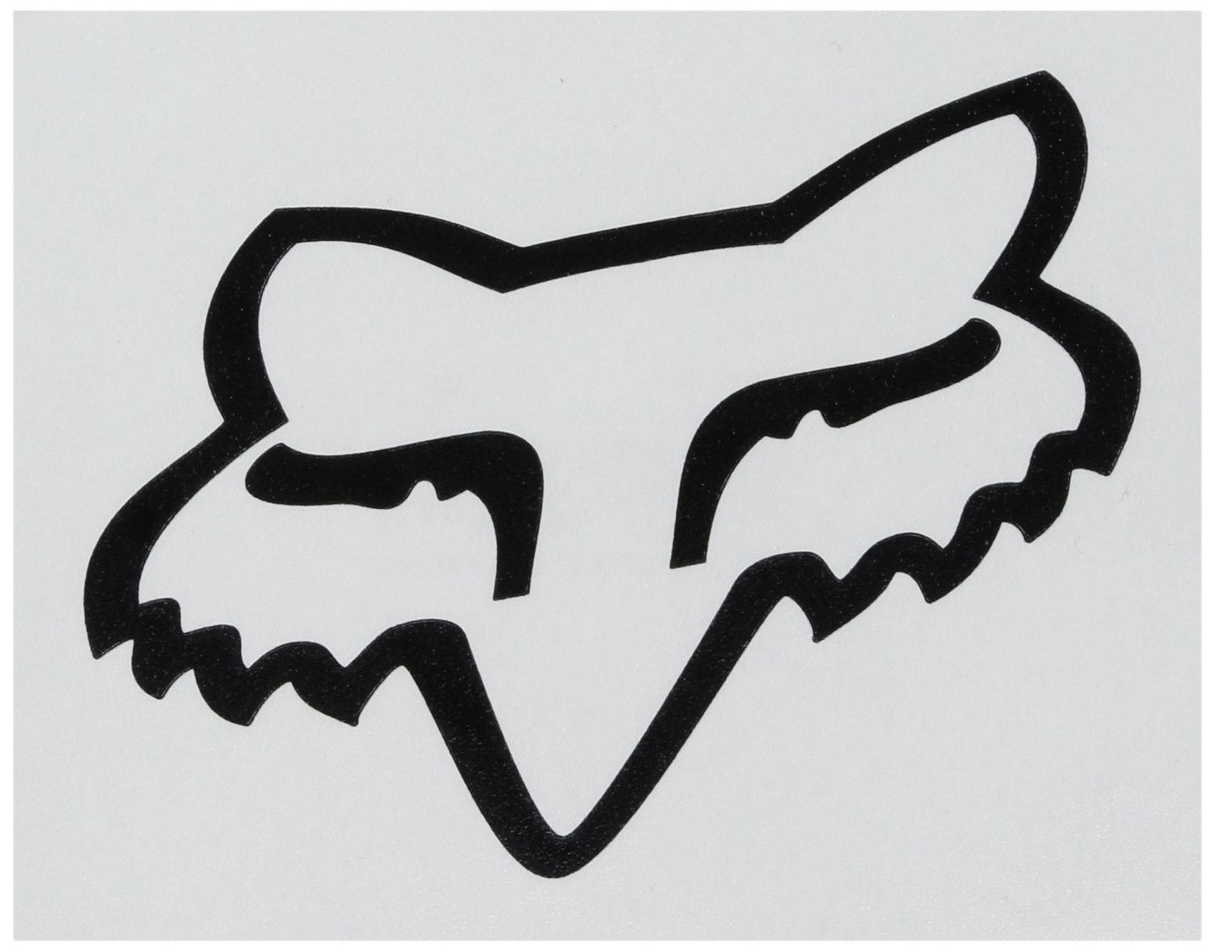 Fox Men's Head TDC-4'' Sticker, Black, One Size