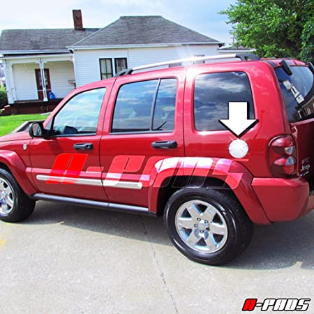 Amazon Com A Pads Chrome Gas Door Cover For Jeep Liberty 2002