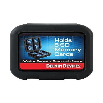Delkin DDACC-SD8 - Funda de Transporte para Tarjetas Secure Digital, Negro