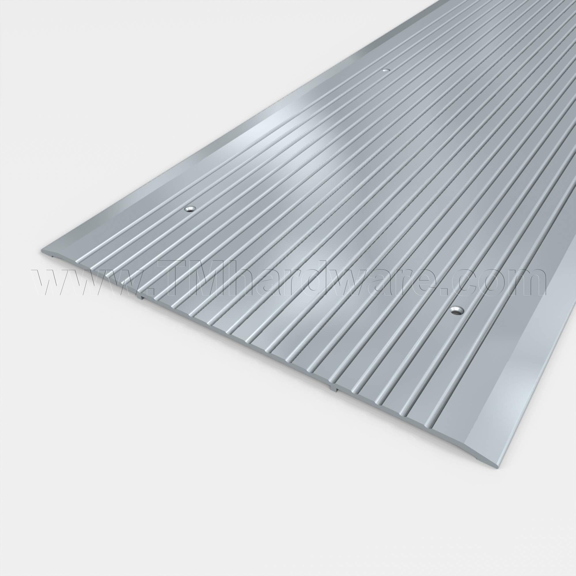 12'' Wide Aluminum Threshold (48'', Silver) - Single Piece Extrusion! by Trademark Hardware
