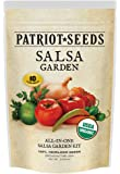 Organic Salsa Garden Seed Kit – 10 Heirloom Variety Pack ,100% CCOF-Certified Organic Heirlooms – No Hybrids or GMOs in Re-Sealable Pouch