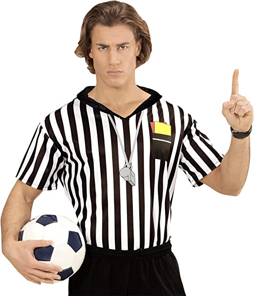 WIDMANN Disfraz de árbitro para Adultos, Multicolor, Extra-Large ...