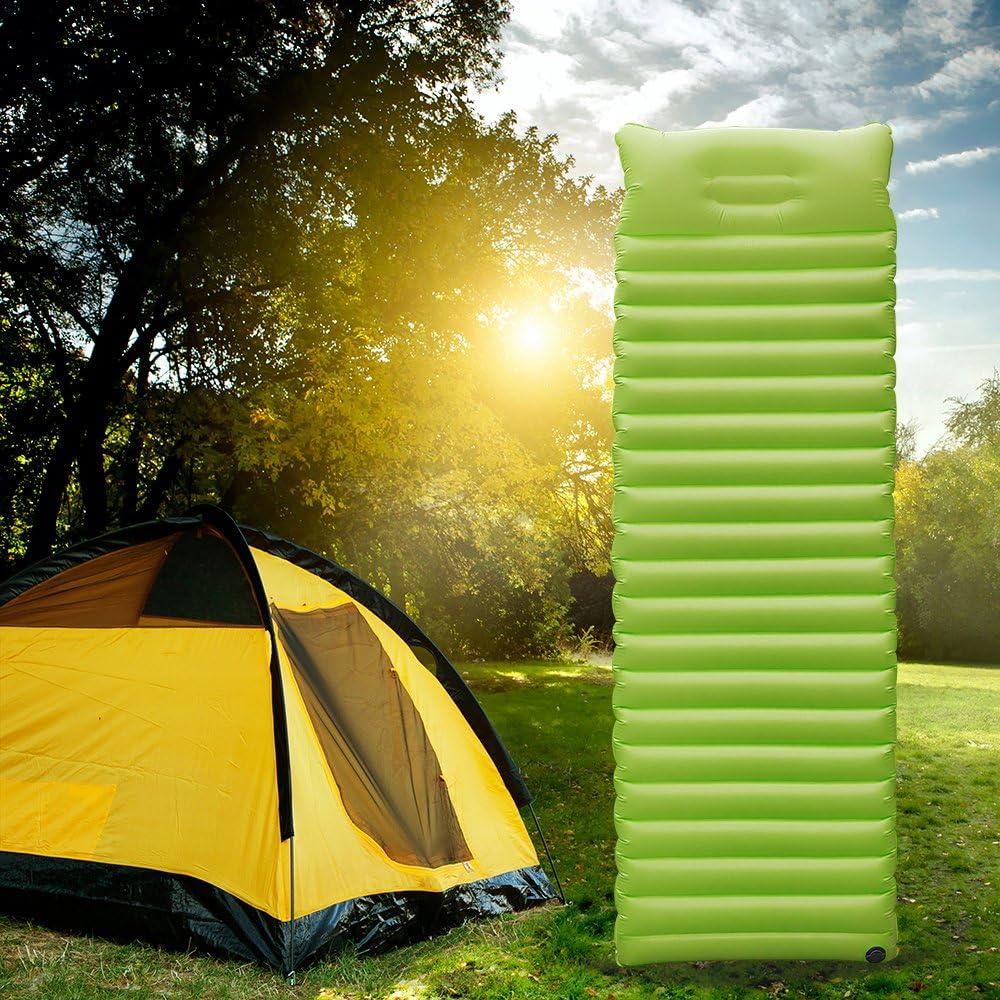 resistente al agua senderismo playa Colch/ón de aire hinchable Ultraligero con almohada ir de camping para viajar para el exterior