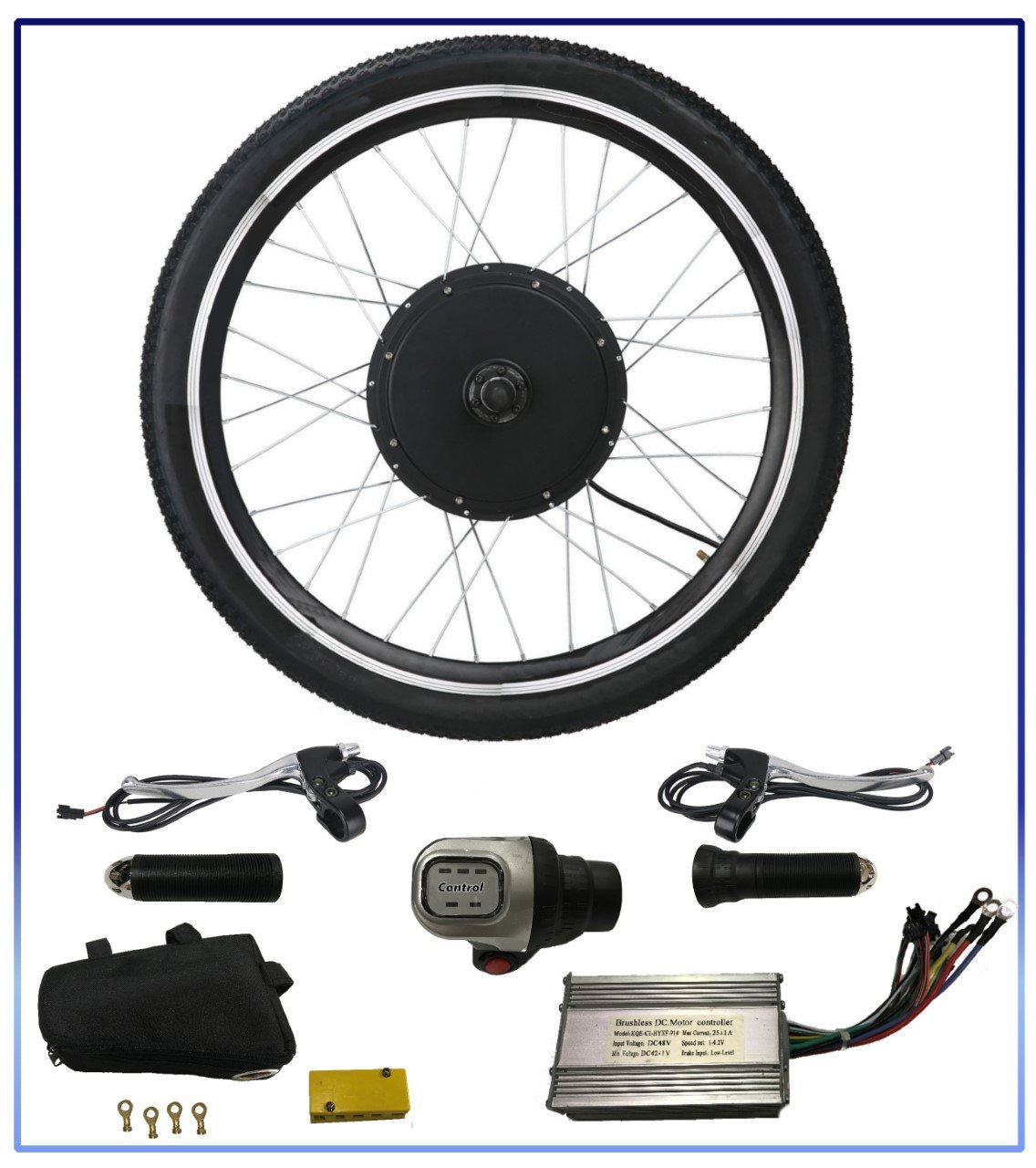 36V 500W Electric Bicycle Motor Conversion Kit 26'' Ebike Cycling Front Wheel Hub
