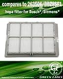 Filtre HEPA pour les aspirateurs Bosch et Siemens (alternative à 263506, BBZ8SF1). Compatible avec BSG4 / BSF / BBS7 / BBS8 / S04G / VS6A / VS7C/D / VS9A / VS32/33 / VS42/44. Produit Green Label authentique